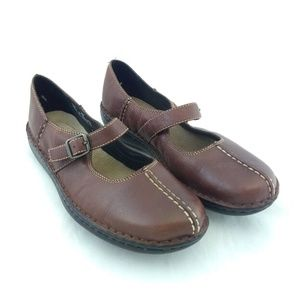Clarks Women 6M Loafers Brown Mary Jane Leather